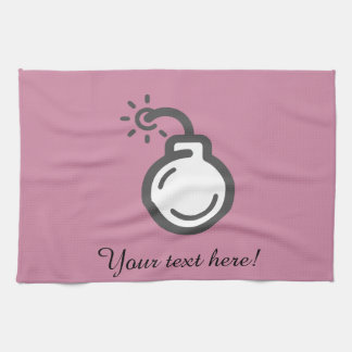 Bomb Icon Tea Towel