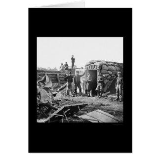 Bomb-proof Headquarters at Fort Burnham 1864 Card