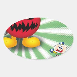 Bomb Revenge Oval Sticker