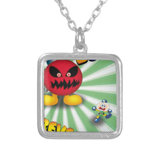 Bomb Revenge Silver Plated Necklace
