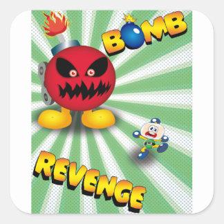 Bomb Revenge Square Sticker