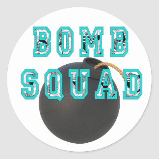 Bomb Squad Classic Round Sticker