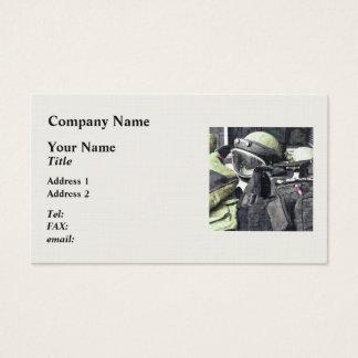 Bomb Squad Uniform Business Card