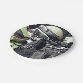 Bomb Squad Uniform Paper Plate