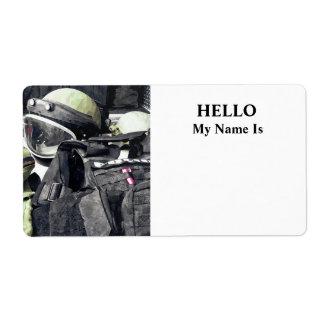 Bomb Squad Uniform Shipping Label