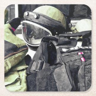 Bomb Squad Uniform Square Paper Coaster
