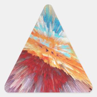 bomb triangle sticker