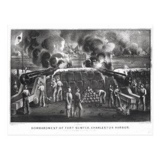 Bombardment of Fort Sumter, Charleston Harbour Postcard