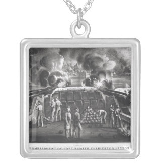 Bombardment of Fort Sumter, Charleston Harbour Silver Plated Necklace