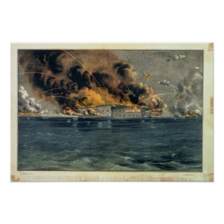 Bombardment of Fort Sumter Poster