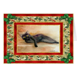 Bombay Cat Blank Christmas Card