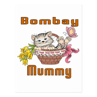 Bombay Cat Mom Postcard