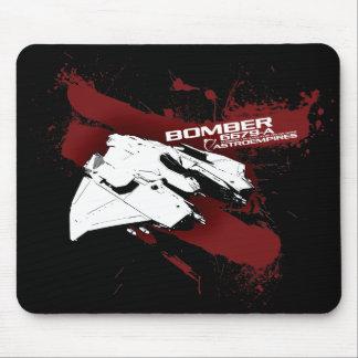 Bomber black mouse pad