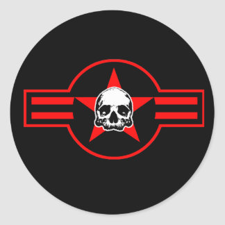 BOMBER BONEZ AND THE FLYING SKULLS CLASSIC ROUND STICKER
