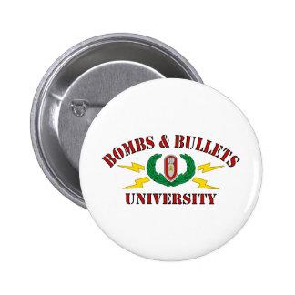 Bombs Bullets University Pin