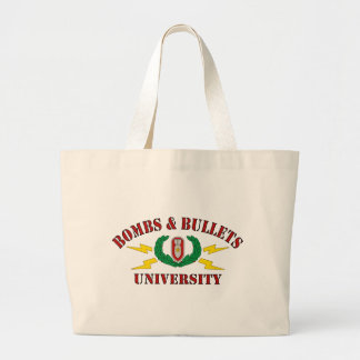 Bombs Bullets University Tote Bag