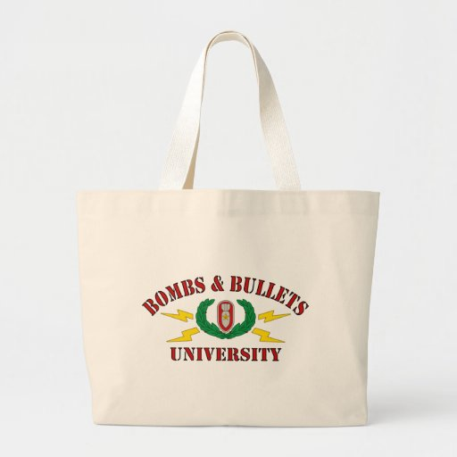 Bombs & Bullets University Tote Bag