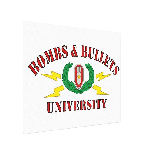 Bombs & Bullets University Gallery Wrapped Canvas