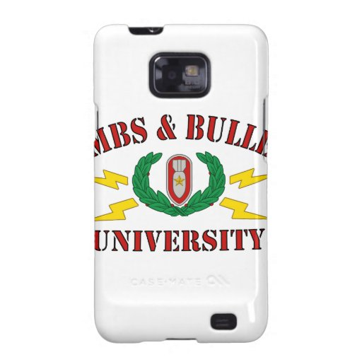 Bombs & Bullets University Galaxy SII Cases