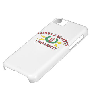 Bombs & Bullets University iPhone 5C Cover