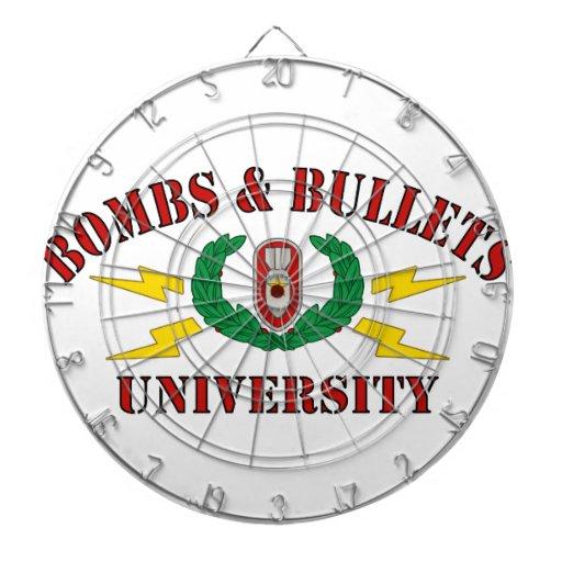 Bombs & Bullets University Dartboards