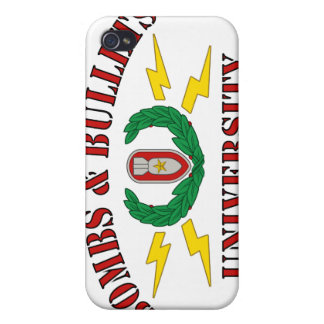 Bombs Bullets University iPhone 4 Covers