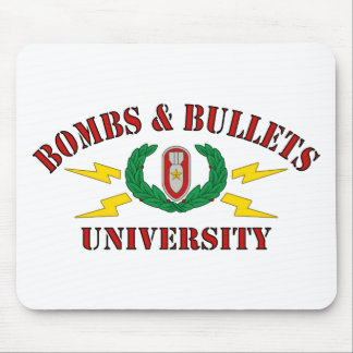 Bombs Bullets University Mouse Pads