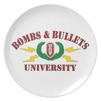 Bombs & Bullets University Dinner Plate