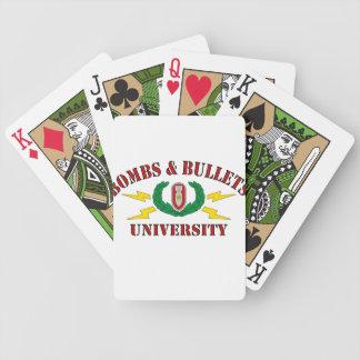 Bombs & Bullets University Poker Deck