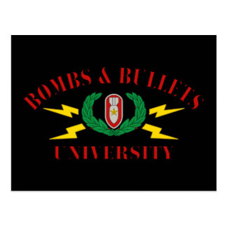 Bombs & Bullets University Post Card
