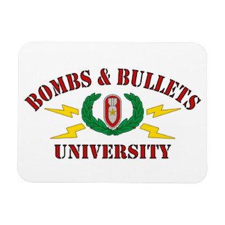 Bombs & Bullets University Magnet