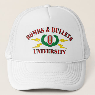 Bombs & Bullets University Trucker Hat