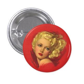BOMBSHELL BAD GIRLS Retro Pin-Ups 3 Cm Round Badge