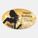 Bombshell Glitter Party Dress oval   gold