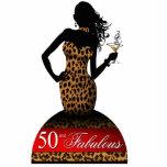 Bombshell Leopard Birthday Cake Topper red