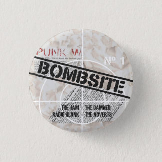 Bombsite Fanzine No, 1 cover 3 Cm Round Badge