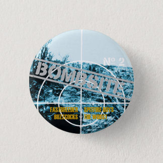Bombsite Fanzine No 2 Cover 3 Cm Round Badge