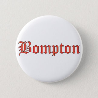 Bompton red 6 cm round badge