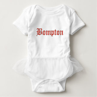 Bompton red baby bodysuit