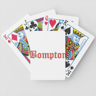 Bompton red bicycle playing cards