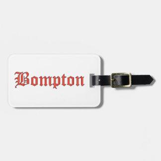 Bompton red luggage tag