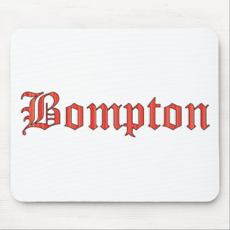 Bompton red mouse pad