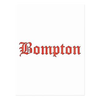 Bompton red postcard