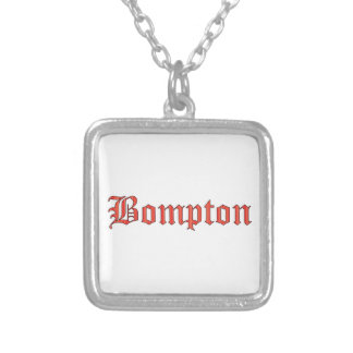 Bompton red silver plated necklace