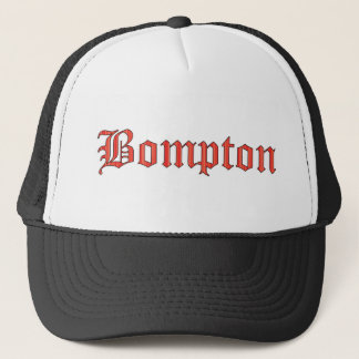 Bompton red trucker hat