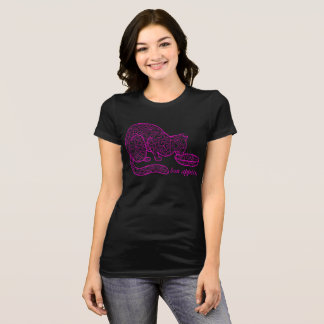 Bon Appétit Cat T-Shirt (Hot Pink)