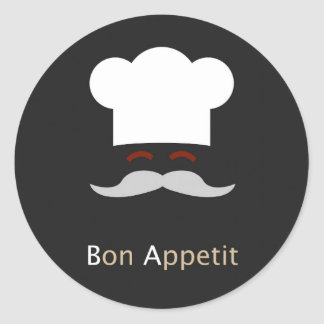 Bon Appetit Chef Classic Round Sticker