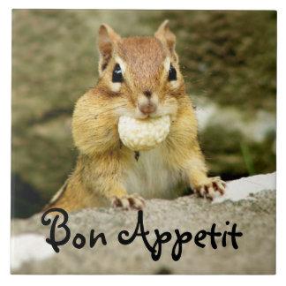 Bon Appetit Chipmunk Trivet Large Square Tile