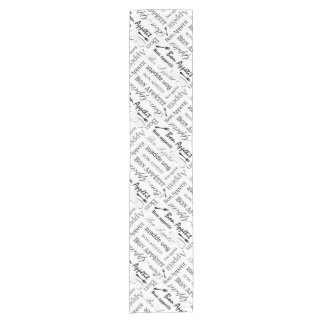 Bon Appetit Classic Black and White Pattern Short Table Runner