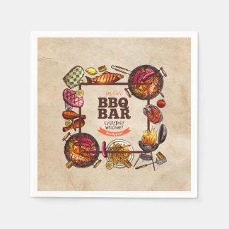 Bon Appetit Father's Day Party Paper Napkins Disposable Serviette